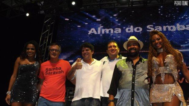 Gusttavo Clarão e Paulo Oliveira, vencedores do 5º Concurso de Samba de Quadra - Foto: Pedro Muniz